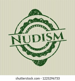 Green Nudism distress grunge stamp