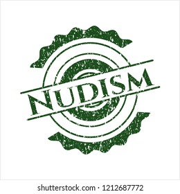Green Nudism distress grunge style stamp