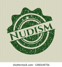 Green Nudism rubber grunge texture stamp
