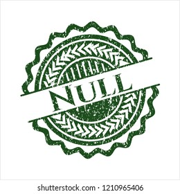 Green Null distressed rubber grunge texture stamp