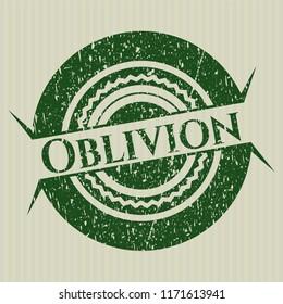 Green Oblivion distressed rubber grunge seal