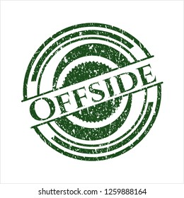 Green Offside distress with rubber seal texture
