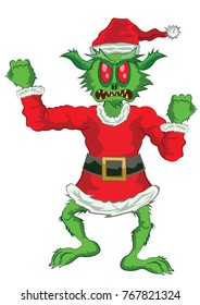 Green Ogre in Christmas angry