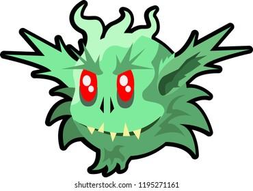 Green Ogre in Christmas cute