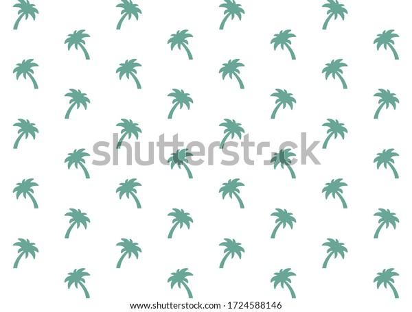 Green palm tree pattern,  nature background