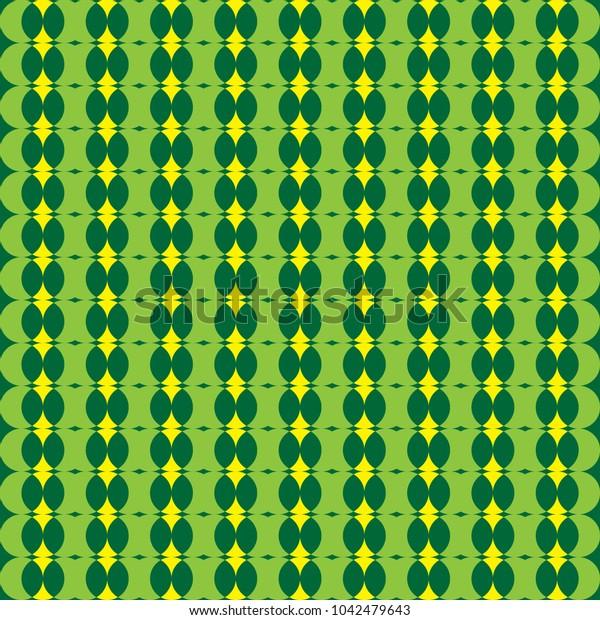 green pattern circle