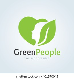 green people Beauty and Cosmetic logo template