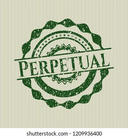 Green Perpetual distress rubber stamp