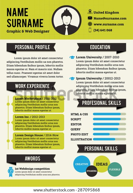 Green Personal Curriculum Vitae Template Simplicity Stock