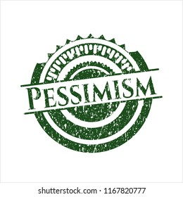 Green Pessimism distressed rubber stamp