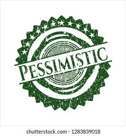 Green Pessimistic grunge stamp
