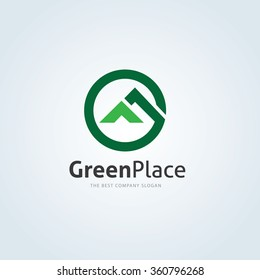 Green Place, Home and  real estate logo