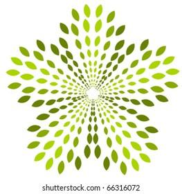 Green plant abstract logo symbol. Vector icon
