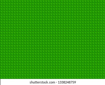 Green plastic constructor blocks plate seamless pattern flat design vector