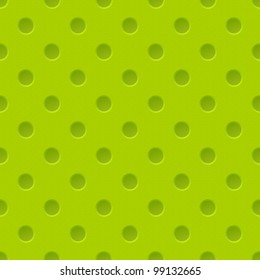 Green Plastic Seamless Pattern with holes