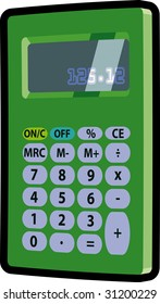 green pocket calculator