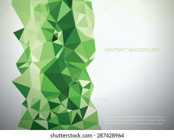 Green polygonal design - Low poly vector background illustration