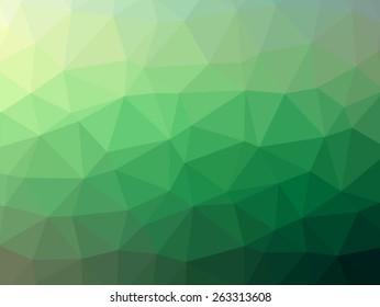Green Polygonal Mosaic Background