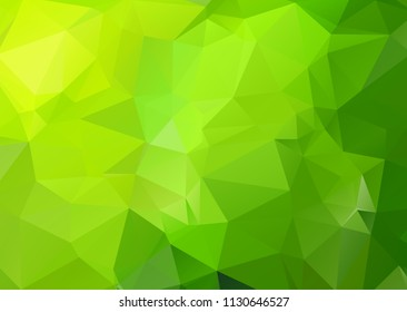 Green Polygonal Mosaic Background. geometric pattern, triangles background. Creative Business Design Templates. Vector illustration.