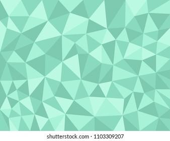 Green Polygonal texture, color shades