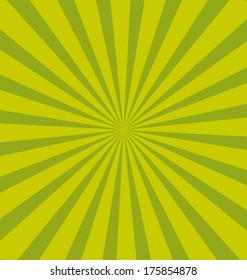 Green pop sunburst background. Commercial vector wallpaper.