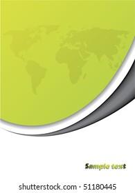 Green presentation background