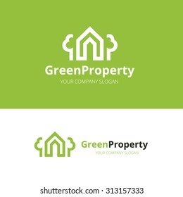 Green Property, Real estate logo template