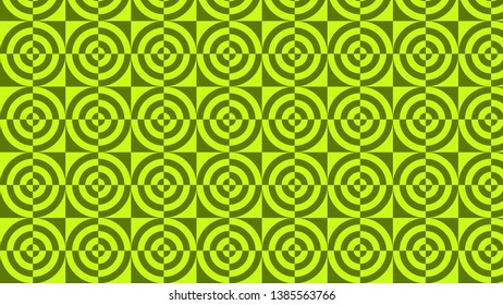 Green Quarter Circles Background Pattern