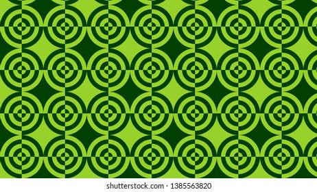 Green Quarter Circles Pattern Vector
