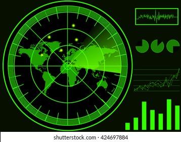 green radar digital vector