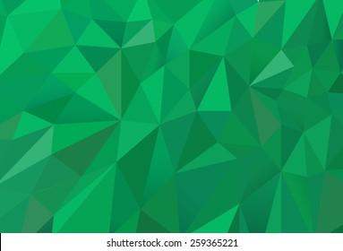 Green Random Triangles Texture vector Composition