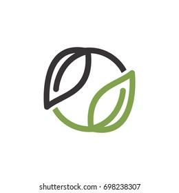 GREEN RECYCLE ICON LOGO