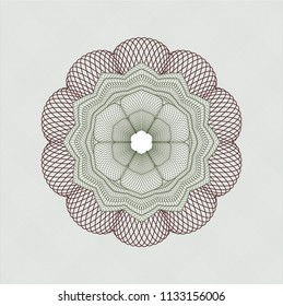 Green and Red abstract linear rosette