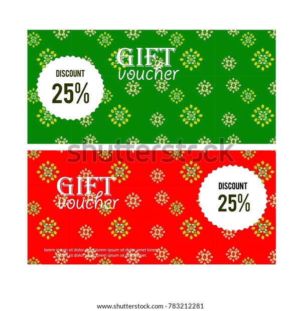 Green Red Christmas Background Snowflakes Gift Stock Vector Royalty Free 783212281