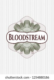 Green and Red linear rosette with text Bloodstream inside