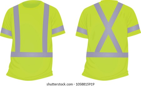 Green reflective t shirt. vector illustration