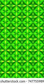 green repeat geometrical pattern floor tiles or wallpaper design