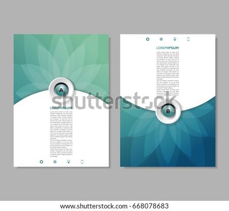 green report brochure flyer design template stock vector royalty