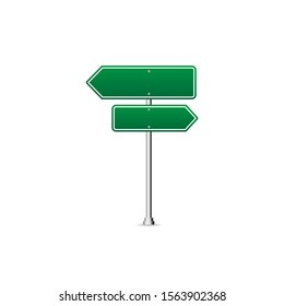 green Road Sign Board vector illustration