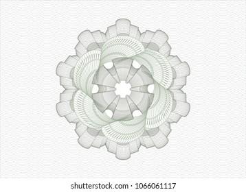 Green rosette. Linear Illustration.