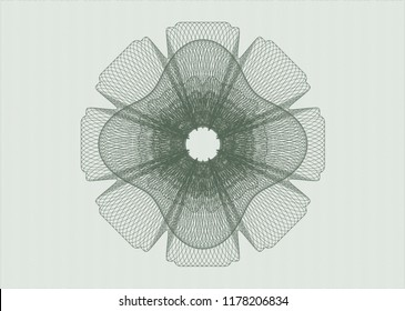 Green rosette. Linear Illustration.