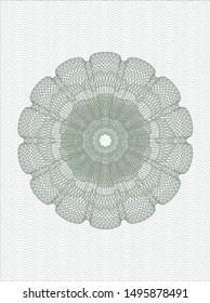Green rosette. Linear Illustration. Vector, Detailed.
