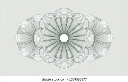 Green rosette or money style emblem