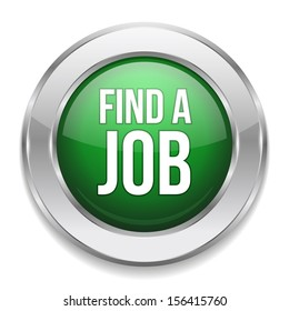Green round find a job button