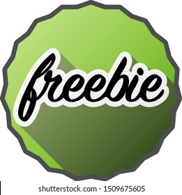 green round freebie or giveaway badge or sticker vector illustration