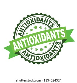 Green rubber stamp with Antioxidants concept