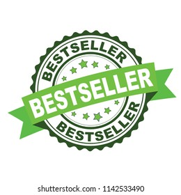 Green rubber stamp with bestseller concept