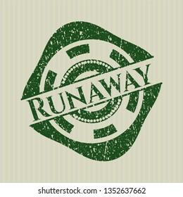 Green Runaway distressed rubber seal