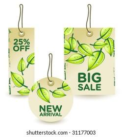 green sale tags set 1
