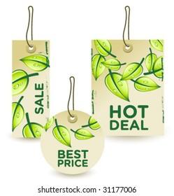 green sale tags set 2